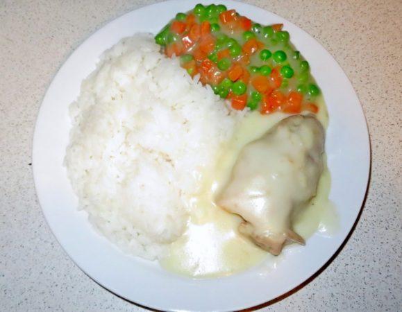 Kurczak w białym sosie